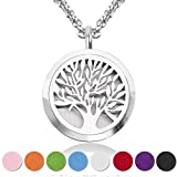 jewelry Essential Oil Diffuser Pendant Necklace,Stainless Steel Aromatherapy Diffuser Magnetic Locket Necklaces with 27.6