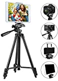 "Photo : Tripod for iPad and iPhone [UPGRADED], PEYOU 50"" Inch Portable Lightweight Aluminum Phone Camera Tablet Tripod with 2 in 1 Universal Mount Holder for Smartphone(Width 2-3.3"") and Tablet (Width 4.3-7"")"
