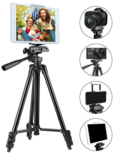 Tripod for iPad and iPhone [UPGRADED], PEYOU 50