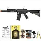 Lancer Tactical Airsoft AEG M4 SD Automatic Electric Metal Gearbox Rifle Black