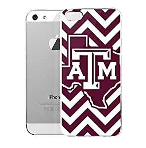 Light weight with strong PC plastic case for Iphone 5/5s Sports & Collegiate Schools Texas A&M University Texas A&M Chevron