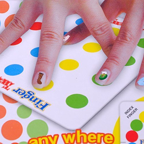 Funny Family Finger Twister Board Mini Version Table Party Game for 2 players