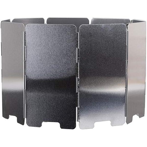 Ogquaton 1 UNIDS Aleaci/ón de Aluminio Parabrisas Plegable Mini Parabrisas Estufa de Camping Placa A Prueba de Viento para Cocinar al Aire Libre Uso