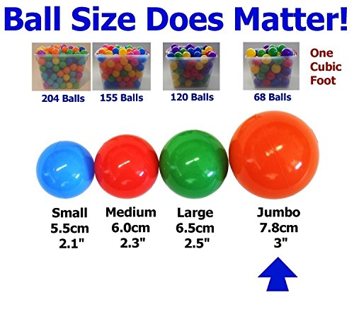 My Balls Pack of Jumbo 3'' Crush-Proof Ball Pit Balls - 5 Bright Colors, Phthalate Free, BPA Free, PVC Free, Non-Toxic, Non-Recycled Plastic by My Balls (Image #2)