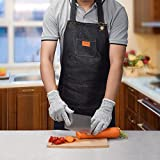 Denim Chef Apron with Pockets Durable Apron for