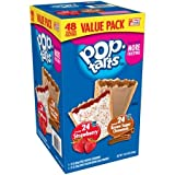 Kellogg's Pop-Tarts Value Pack, Frosted Brown Sugar Cinnamon/Frosted Strawberry: 48-Count