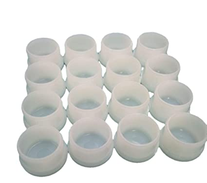 Image Unavailable - Amazon.com: 16 (Sixteen) Plastic White Patio Chair Table Tube Feet