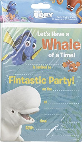 Finding Dory Pack Of 20 Party invites With Envelopes]()