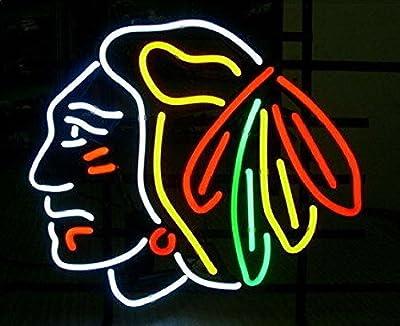 "Desung New 20""x16"" Sports League CB Neon Sign Man Cave Signs Sports Bar Pub Beer Neon Lights Lamp Glass Neon Light KC04"