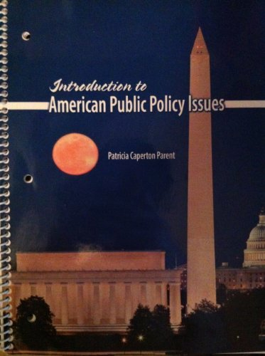 Introduction to American Public Policy Issues