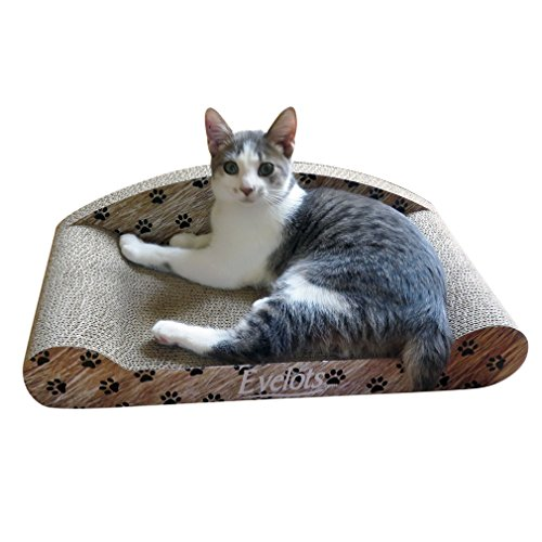 Evelots Cat Scratcher Lounge Kitty Couch,Post Lounge Cat Grinding Claws Sofa Bed 51ucMUeAXNL