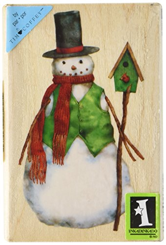 Inkadinkado Wood Stamp, Dapper Snowman