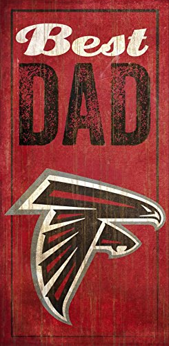 Fan Creations Atlanta Falcons Best Dad Sign, Multicolored
