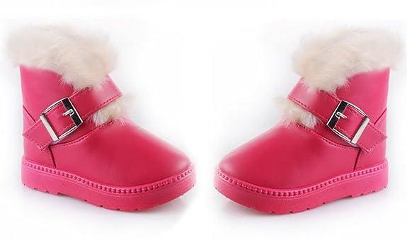 DEHANG - Bottes de Neige Enfant Fille - Boots PU chaude Hiver - Taille  33(21cm) - Pêche: Amazon.fr: Chaussures et Sacs