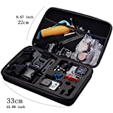 TEKCAM Carrying Case Protective Bag Water Resistant EVA Compatible with Gopro Hero 6/DBPOWER/AKASO/APEMAN/Campark/SOOCOO/Crosstour Waterproof Action Camera Travel Home Storage (Large)