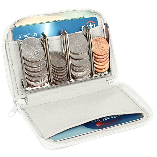 My Charity Boxes MCB Wallet And Coin Sorter Trusty Coin Pouch,For Pocket Purse Or Car For Quick Change (white)