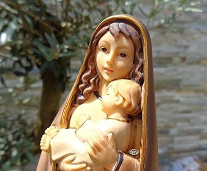 40 - 42 cm árbol - pintadas a mano MADONNA, originalmente marrón Altura de Santa María - gran madre ...