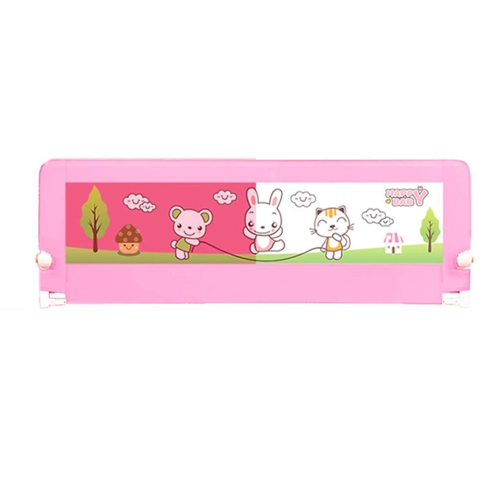 LHA ベッドガードフェンス 子供のためのポータブル折りたたみ式の耐破壊性のガードレール(オプションのサイズ) (色 : Pink, サイズ さいず : L-150cm) L-150cm Pink B07L49LR8Y