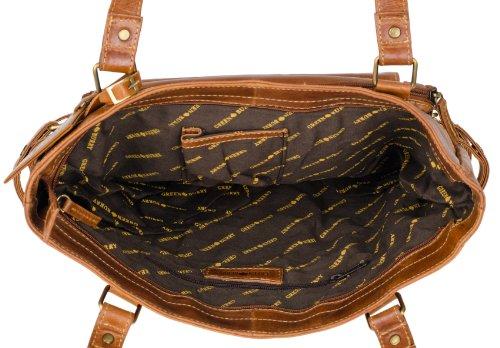 Greenburry - Borsa a spalla/tracolla, colore: cognac