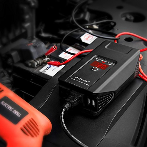 POTEK 750W Power Inverter 12 V DC to 110 V AC Car Adapter with Dual USB and AC Charging Ports for Laptop, Tablet, Smartphone,Camera and More by POTEK (Image #6)'