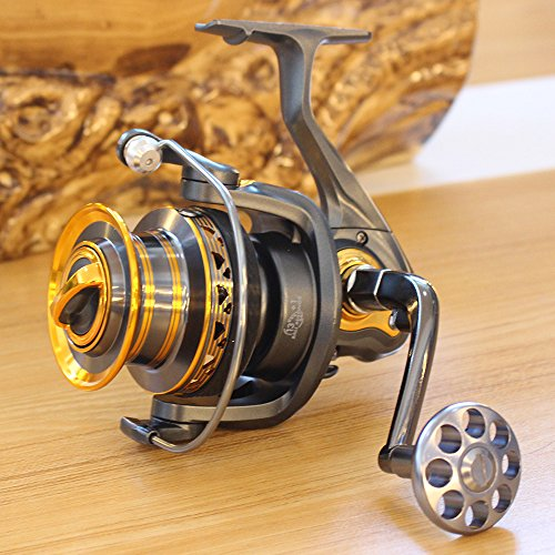 Aluminum Spool Spinning Reel 5000 Series 13+1BB Ball Bearings Long Distance Surfcasting Reel Fishing Reel ()