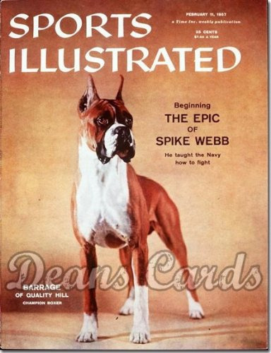 Sports Illustrated - No Label February 11 1957 - Barrage Boxer Show Dog (Magazine/Publication) (No Address Label on Front) Dean's Cards 5 - EX