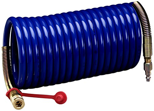(3M 16207-case Supplied Air Hose W-2929-100, 100', 3/8 in ID, Industrial Interchange Fittings, High Pressure, Coiled Nylon, Blue)