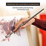 Nicpro Professional Paint Brushes for Acrylic
