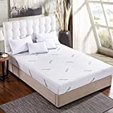"Comfort & Relax Memory Foam Mattress with Gel-infused AirCell Tech, Bamboo Fabric Cover, 10"" TWIN"