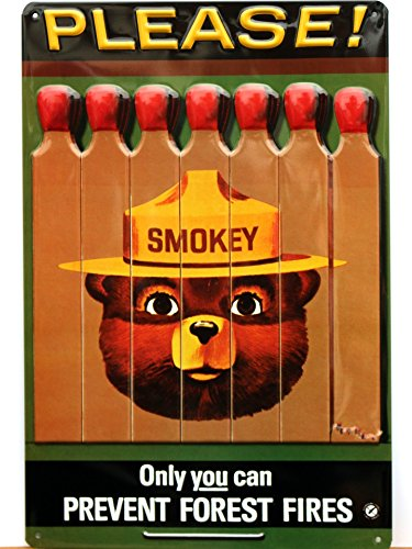 [Smokey Tin Sign] (Prevent Signs)