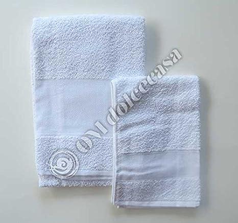 Juego Baño Esponjas Esponja salvietta Viso + invitados 100% Esponja con inserto de tela aida para punto a punto de cruz color blanco: Amazon.es: Hogar