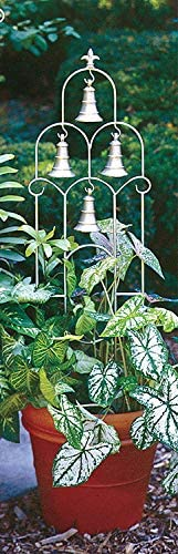 H Potter Small Bell Trellis Weather Resistant Wrought Iron