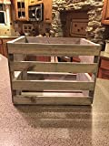 Darla'Studio 66 Antique Gray Vinyl Record Holder Wood Crate