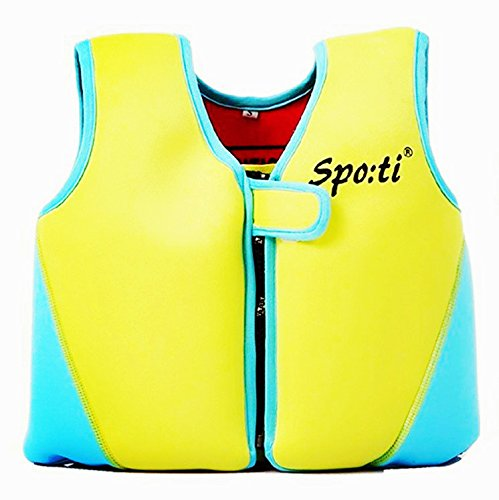 Rayma Baby UPF 50+ Classic Swim Vest Life Jacket Neoprene Swim Learner Flotation Life Vest Color Blue For 1-3 Years Old 20-33 - Swim Neoprene Jacket