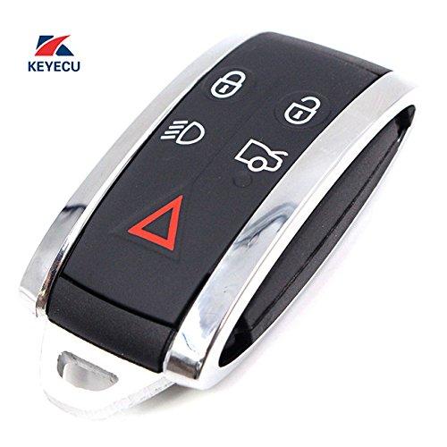 Keyecu Smart Remote Key Case Shell + Key Blank Uncut for JAGUAR X S-Type XF XK XKR 5B by Keyecu