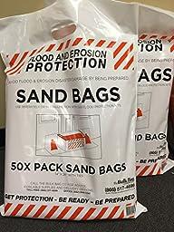 The Bulk Bag Company EN-SND-SANDBAGSKIT-1 Sand Bags, 50 Piece with Ties