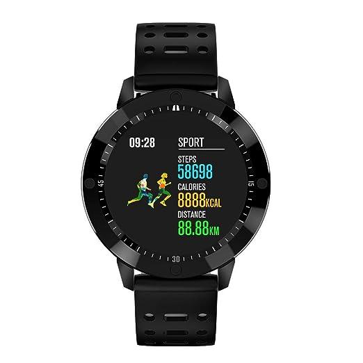 Cebbay Reloj Inteligente Pulsera Actividad Monitor de Ritmo cardíaco/presión Arterial/oxígeno en Sangre Impermeable IP67 Color Monitor de Frecuencia: ...