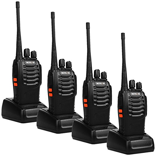 Retevis H-777 Two Way Radio UHF Scan Easy to Operate 2 Way Radio 16CH Flashlight Walkie Talkies(4 Pack) (Retevis 4 Pack Walkie Talkie)