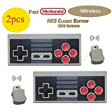 Shalleen 2Pcs Wireless GamePad Controller for Nintendo Mini Classic Edition NES Console