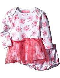 Baby-Girls Floral Skirted Dress with Diaper Cover