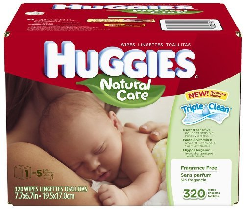 Amazon.com : Huggies Natural Care Baby Wipes - Unscented - 320 ct by Huggies : Baby