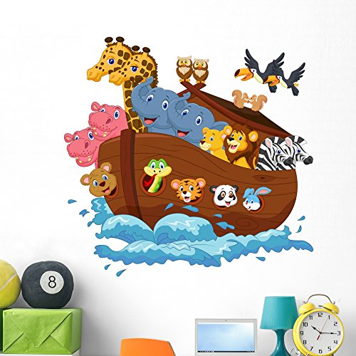 Wallmonkeys Noahs Ark Wall Decal Peel and Stick Vinyl Graphic (48 in W x 46 in H) - Wall Decals Snake