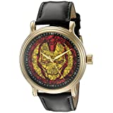 Marvel Iron Man Men's W002546 Iron Man Analog Display Analog Quartz Black Watch