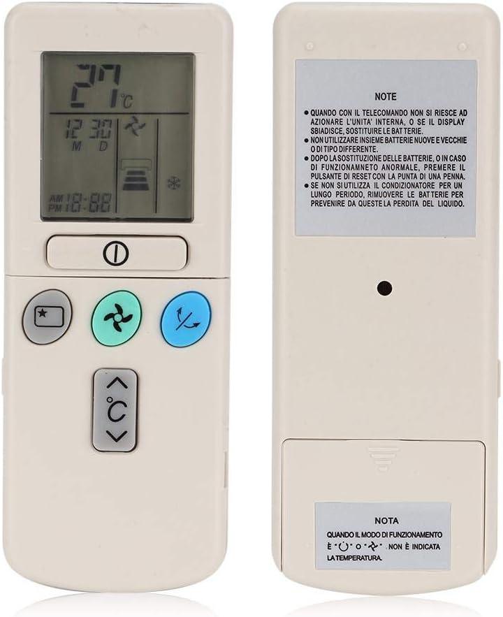 Yunir Control Remoto Universal de Aire Acondicionado de enfriamiento Duradero multifunci/ón para Hitachi RAR-2A1 RAR-52P1 RAR-2SP1 RAR-3U4 RAR-2P2 RAR-3U3 RAR-52P2 RAR-2P1
