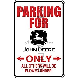 Medlin Traders Funny Sign, John Deere Parking Only Aluminum Sign S8076