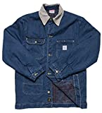 Pointer Brand Indigo Denim Barn Coat M Blue