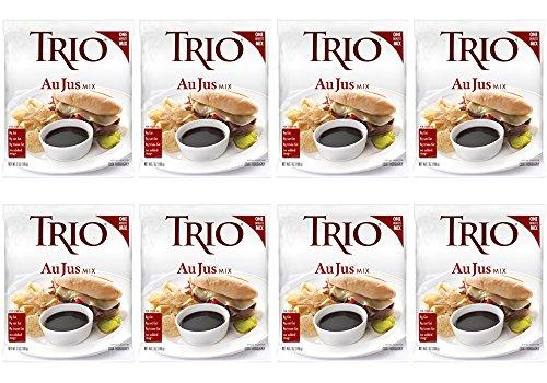 Trio Au Jus Mix, Roast Beef Flavor, Steak and Prime Rib Sauce, 7 oz Bag (Pack of 8)