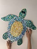 Turtle Wall Piece / Sun Catcher - Copper and Glass