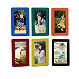 Fyore Magnetic Photo Frames Colorful Pocket Frame for Refrigerator Door Decor Memory Keepsake 4x6inch Pack of 6pcs (Colorful)