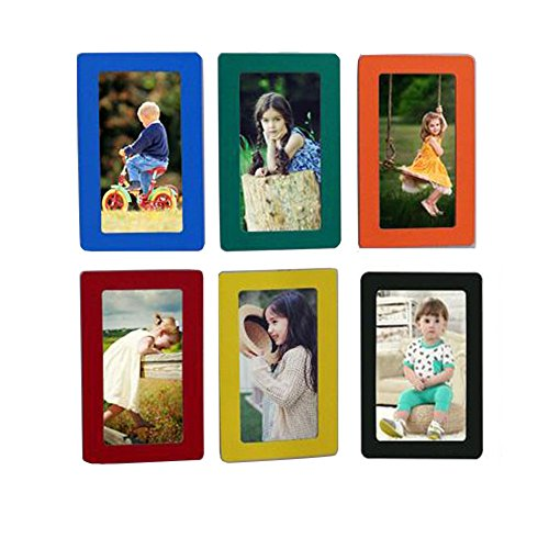 Fyore Magnetic Photo Frames Colorful Pocket Frame for Refrigerator Door Decor Memory Keepsake 4x6inch Pack of 6pcs (Colorful) by Fyore